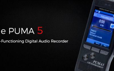 The New PUMA 5 Digital Voice Recorder